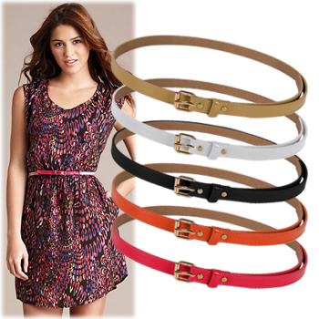 SAC5409Vivid Color GoldBuckle Belt