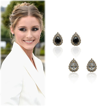 SAT7875Water Drop Cubic Earrings