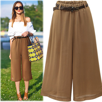 #BPT13766Belt Set Wide Banding Pants