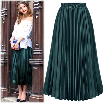 #BSK15189Natural Fit  Pleats Skirt