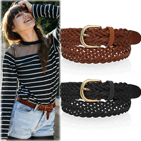 SAC7396Brini Braid Twist Belt