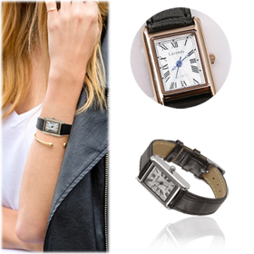 SAC13492Bliss Square Leather Watch