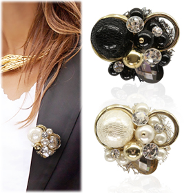 SAT13643Elegance Beads Brooch