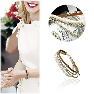 SAC10497Thin Layered Bracelet